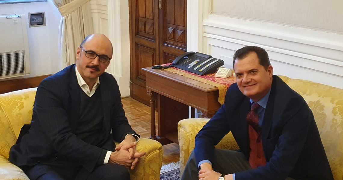 Fabio Porta com o vice-ministro do Interior, Matteo Mauri