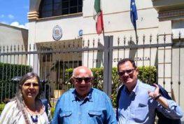 Presidenza UIM e ITAL davanti al Vice Consolato italiano di Ribeirao Preto-SP.♦ Presidência da UIM e da ITAL diante deo Vice-Consulado Italiano de Ribeirão Preto-SP.